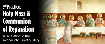 Communal First Saturdays Holy Mass and Communion of Reparation